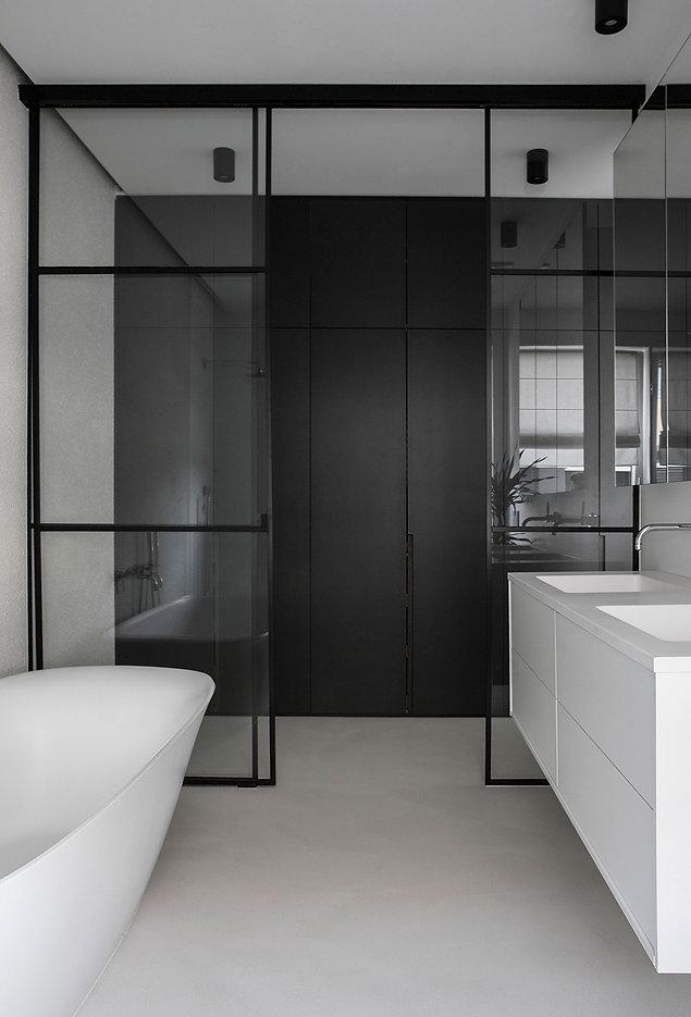 caramel-architekten-martina hatzenbichler-wien-vienna-innenarchitektur-interior design-apartment-wohnung-badezimmer-bathroom-schiebewand glas-sliding door glass