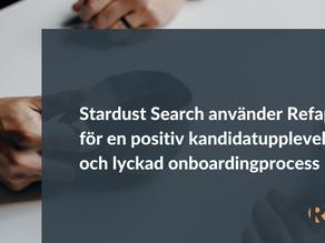 Stardust Search använder Refapp för en positiv kandidatupplevelse och lyckad onboardingprocess