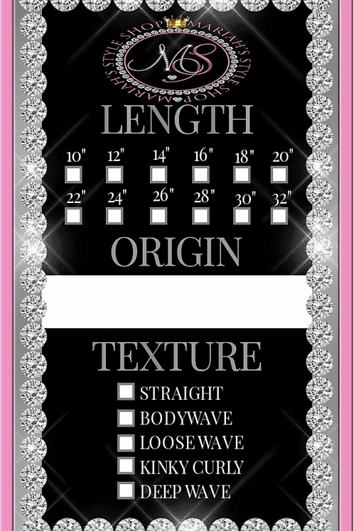 Hang Tag Design (Design Only)