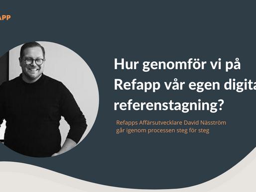 Hur genomför vi på Refapp vår egen digitala referenstagning?