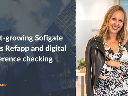 Fast-growing Sofigate uses Refapp and digital reference checking