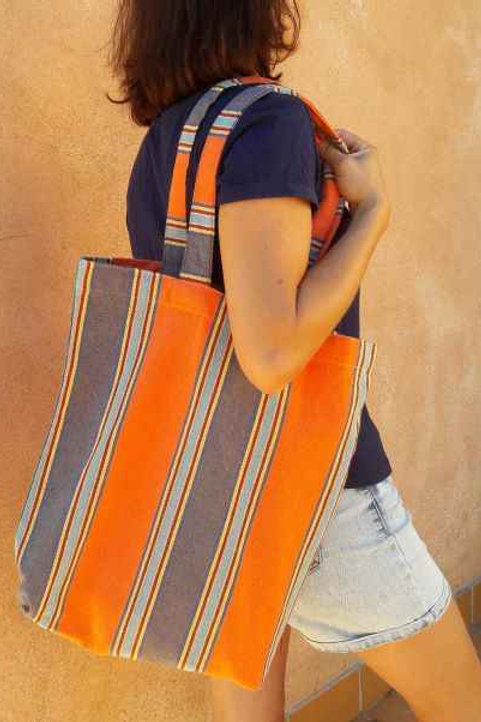 Tote bag 100% coton - Orange