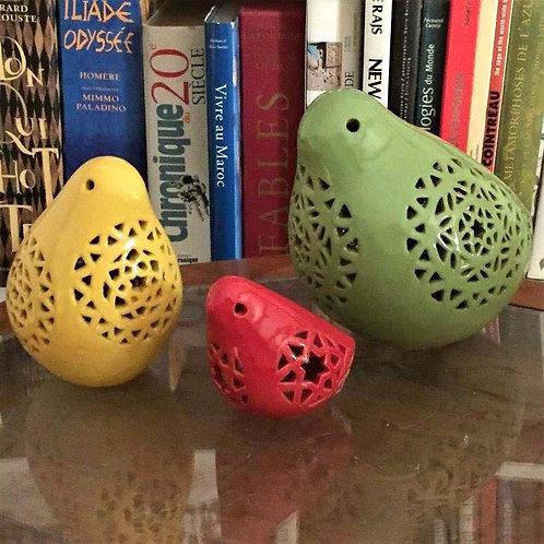 Oiseau egyptien ajouré en céramique