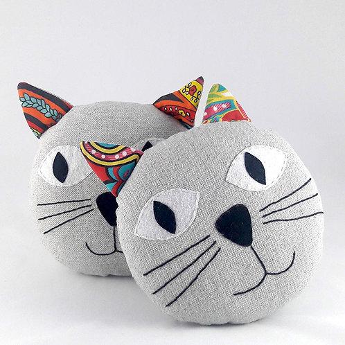 Coussin chat en coton d'égypte pour enfant