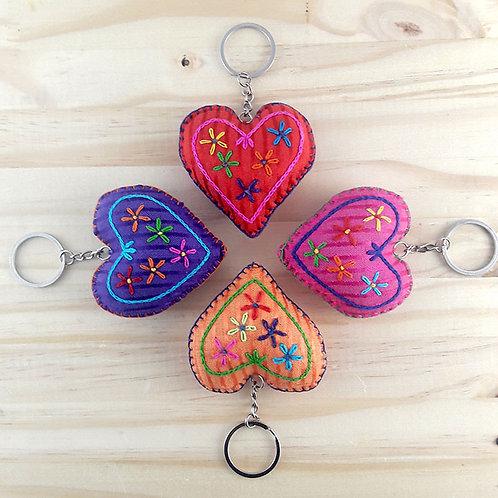 Porte-clé coeur en tissus égyptien
