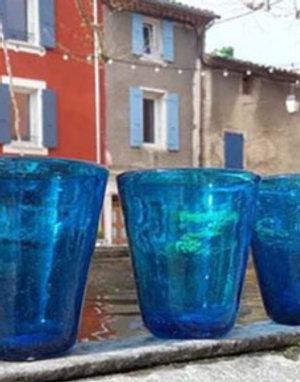 6 Verres Safaga en verre soufflé fait main