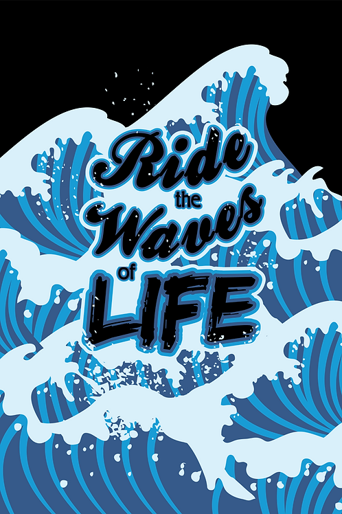 Riding the Waves of Life (Printable Art)