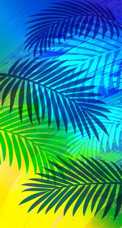 Brushing Palm Leaves