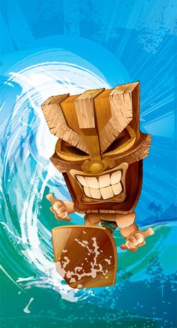 The Tiki Surfer