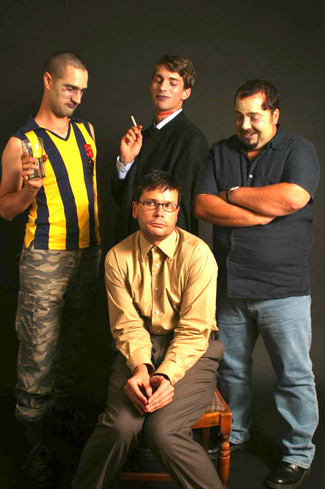 Alex as David in 'Non-Scene', with the company