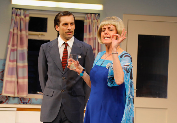 Alex as Sidney Hopcroft in 'Absurd Person Singular', with Maggie Preece, by Douglas McBride