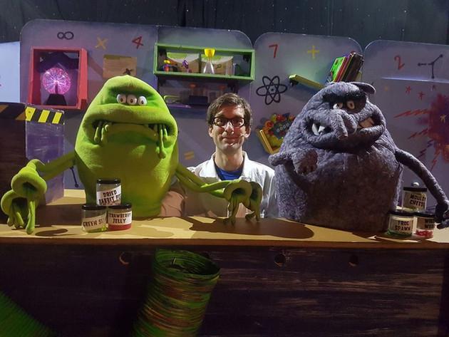 Alex as the Bogablob/Dusty Puppeteer in 'Monstersaurus'