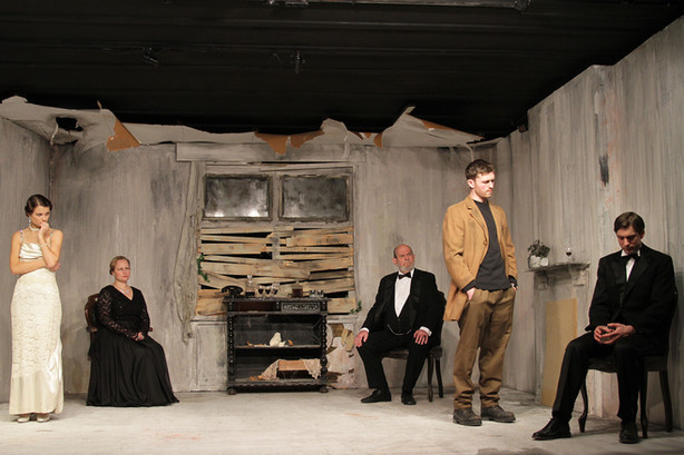 Alex as Gerald Croft in 'An Inspector Calls', with the company