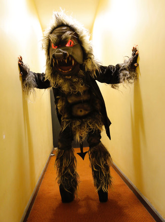 Alex as The Beast in 'The Ruling Class' (backstage) by Douglas McBride