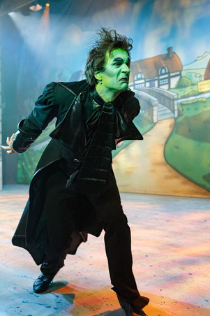 Alex as Fleshcreep in 'Jack and the Beanstalk', by Graham Bennett