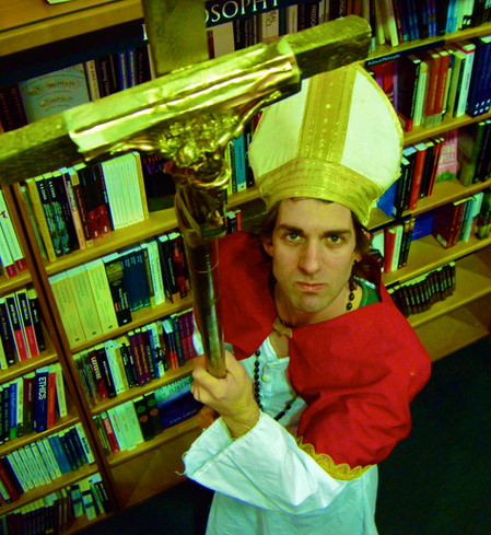 Alex as the Pope in 'Doctor Faustus'