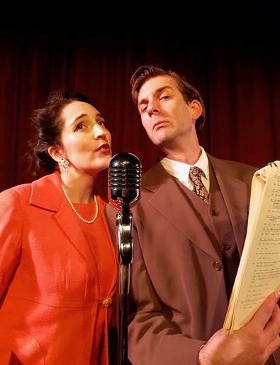 Alex as Hugh Paddick in 'Round the Horne', with Eve Winters