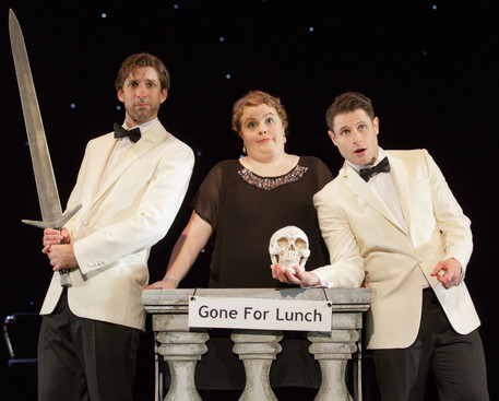 Alex in 'The Shakespeare Revue', with Lizzie Bea and Alex Morgan