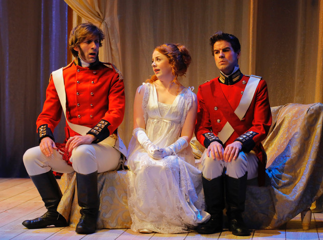 Alex as Lieutenant Spicer in 'Quality Street', with Fiona Wood and David Rankine, by Douglas McBride