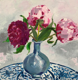 Peonies on Chinese table