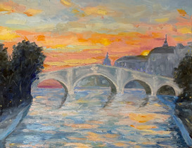 Richmond Bridge at Sunset