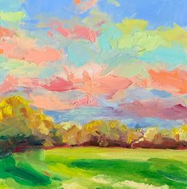 Autumn afternoon sky