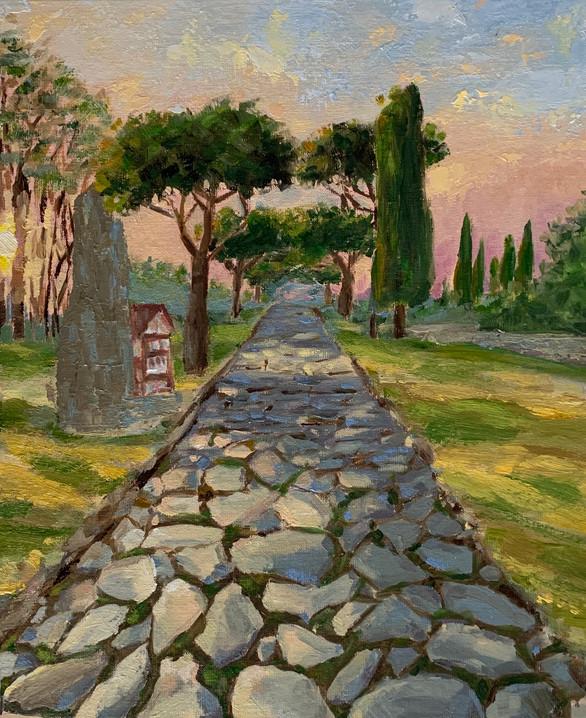 Appian Way at sunset