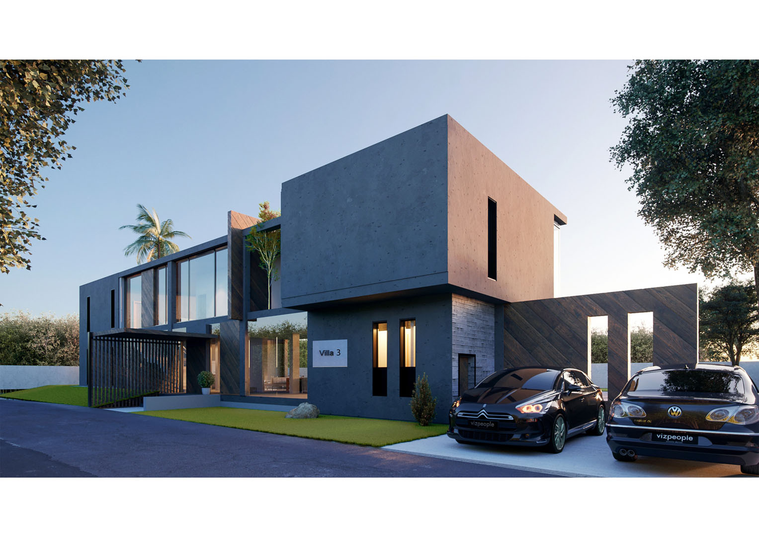 Villa 3 Back View