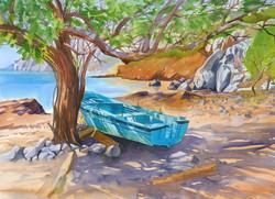Greece Cards Thoris Blue Boat