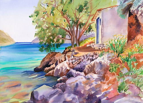 Original Painting | Greece | Kalymnos | Palionisos