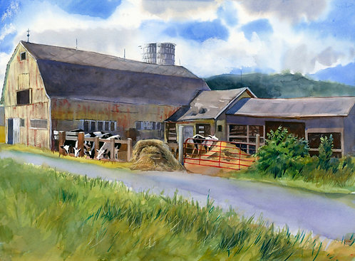 Prints | Lafayette | Amslea Dairy on Clark Hollow Road