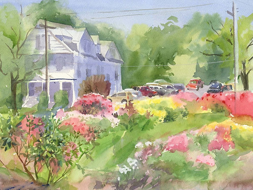 Prints | Rose Garden | View from Garden