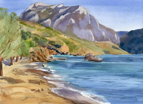 Original Painting | Greece | Kalymnos | Extra Secret Beach
