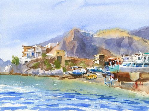 Prints | Greece | Kalymnos | Pothia Boatyard