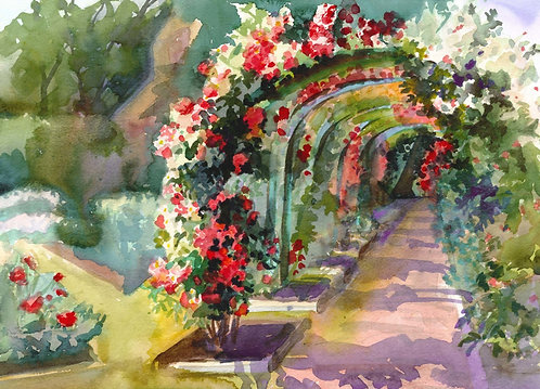 Prints | Rose Garden | Garden Arches