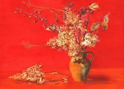 Garden Blooms Cards Dried Hydrangeas