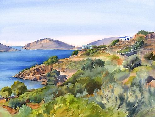 Original Painting | Greece | Kalymnos | Skalia Coast