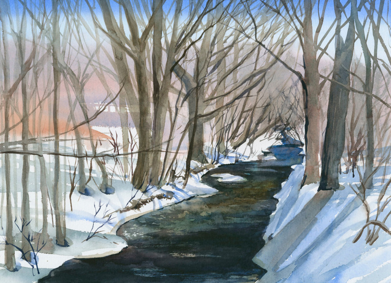 Winter Cards Limestone Creek