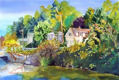 Original Painting | Manlius Center Hamlet, Fayetteville