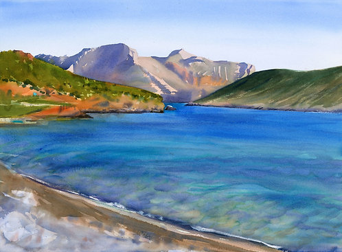 Original Painting | Greece | Kalymnos | Bay of Emporios