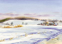 Winter Cards Number Four Road