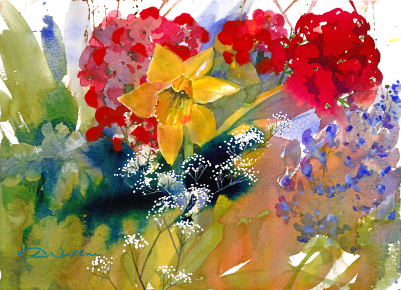 Petals  Daffodils and Geraniums1