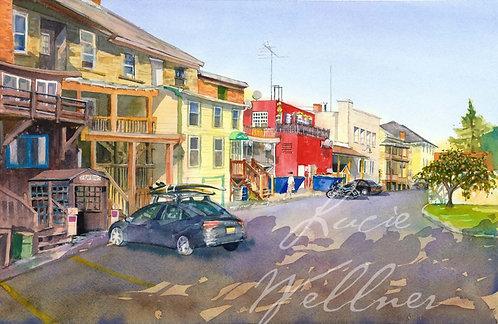 Original Painting   Back Alley, Cazenovia