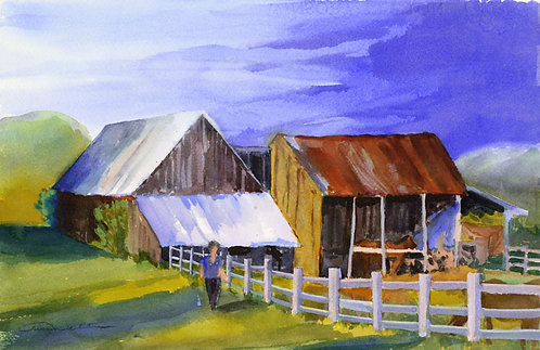 Prints | Adirondacks | Horse Barn