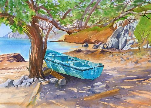 Prints | Greece | Kalymnos | Thoris Blue Boat