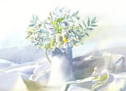 Garden Blooms Cards White Bouquet