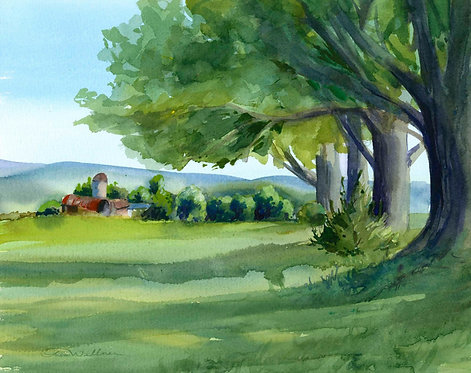 Prints | View from Pompey Center Road (Study)