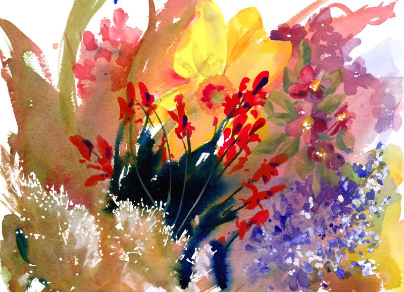 Petals Daffodils and Geraniums 2