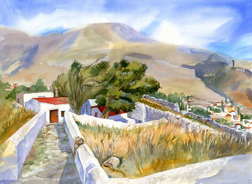 Original Painting | Greece | Kalymnos | Castle of Chrisocheria