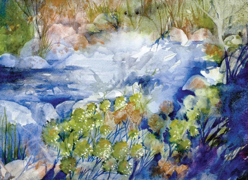Watercolors Cards River